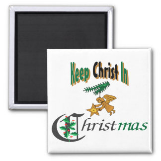 Keep Christ In Christmas 2 Inch Square Magnet