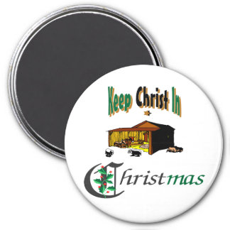 Keep Christ In Christmas 3 Inch Round Magnet