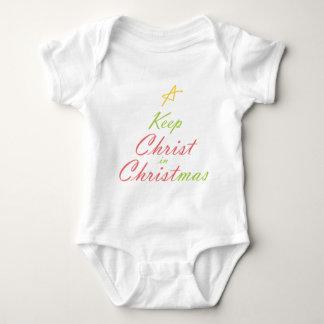 KEEP CHRIST IN CHRISTMAS BABY BODYSUIT