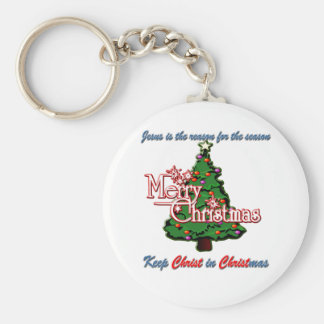 Keep Christ in Christmas Basic Round Button Keychain