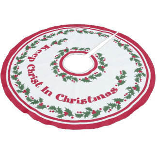 Christian Christmas Tree Skirts Zazzle - Is A Christmas Tree Religious
