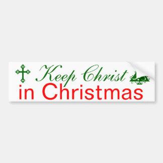 Keep Christ in Christmas Car Bumper Sticker
