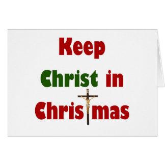 Keep Christ in Christmas Card