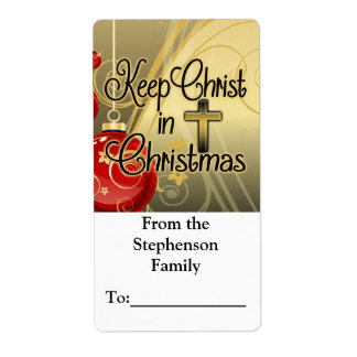 Keep Christ in Christmas, Christian Gift Tag