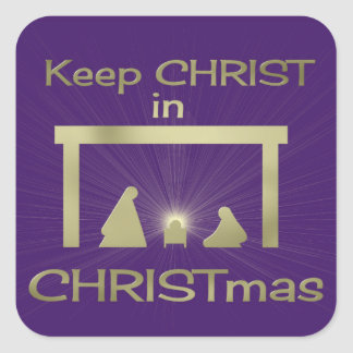 Keep Christ In Christmas Colorful Square Stickers
