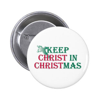 Keep Christ in Christmas - cross 2 Inch Round Button