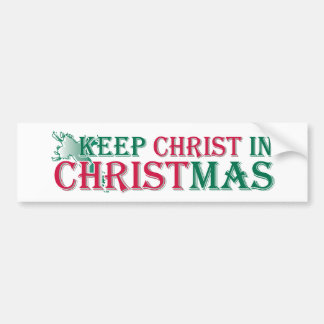 Keep Christ in Christmas - cross Bumper Stickers