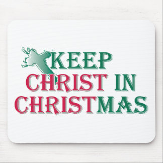 Keep Christ in Christmas - cross Mouse Pad