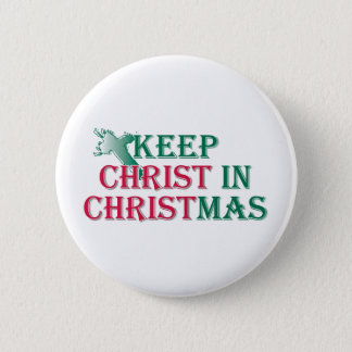 Keep Christ in Christmas - cross Pinback Button