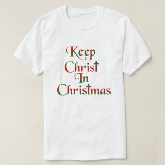 Keep Christ In Christmas Cross Shirts