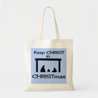 Keep CHRIST in CHRISTmas Fabric Shopping Bags