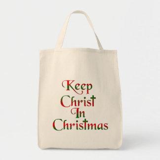 Keep Christ In Christmas Fabric Tote Bag