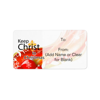 Keep Christ in Christmas Gift Tag