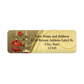 Keep Christ in Christmas, Gold/Red Christian Label