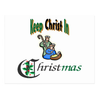 Keep Christ In Christmas Postcard