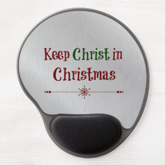 Keep Christ in Christmas Quote Gel Mouse Mat