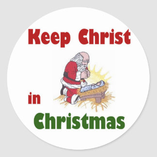 Keep Christ in Christmas Round Sticker
