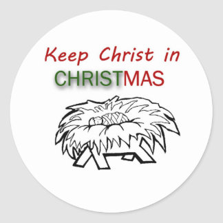 Keep Christ in Christmas Sticker