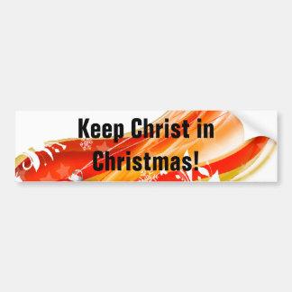 Keep Christ in Christmas, Swirl Bumper Sticker