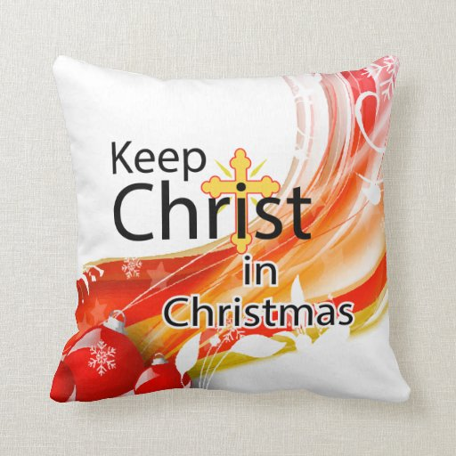 Keep Christ in Christmas, Swirl Pillow