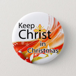 Keep Christ in Christmas, Swirl Pinback Button