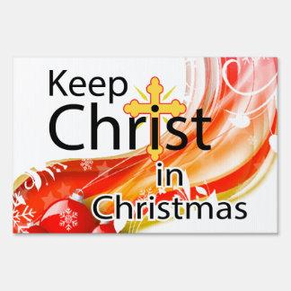 Keep Christ in Christmas Swirl Sign
