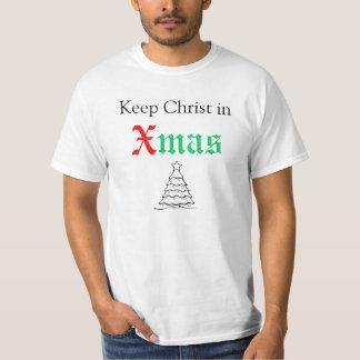 Keep Christ in Xmas T Shirt