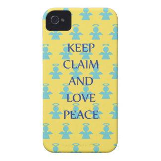 Keep Claim and Love Peace Angel iPhone 4 Case