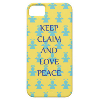 Keep Claim and Love Peace Angel iPhone 5 Case