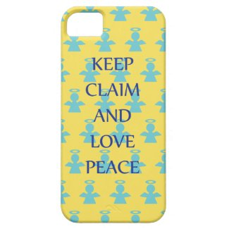 Keep Claim and Love Peace Angel iPhone 5 Case
