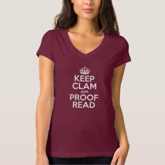 KEEP CLAM adn PROOF READ T Shirt