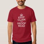 KEEP CLAM adn PROOF READ Tee Shirt