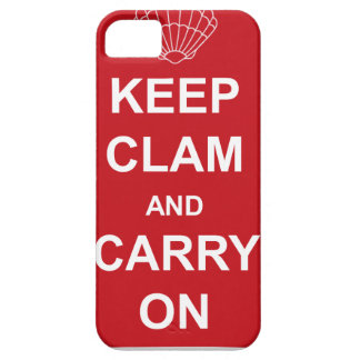 KEEP CLAM AND CARRY ON iPhone SE/5/5s CASE