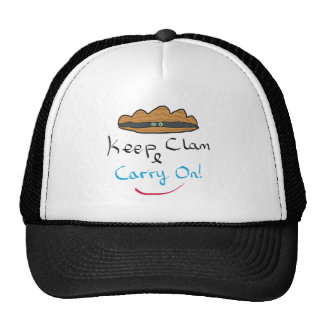 Keep Clam and Carry On Trucker Hat