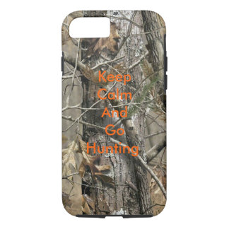 Keep Clam And Go Hunting iPhone 7 case