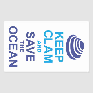 KEEP CLAM AND KNOWS THE OCEAN