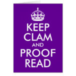 Keep Clam and Proof Read Card