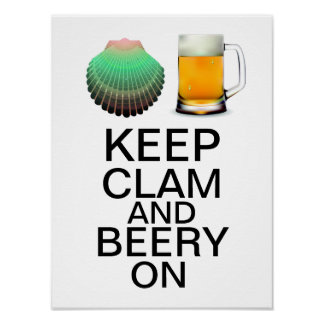 Keep Clam by SRF Poster