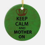 Keep Clam & Mother On Christmas Ornament