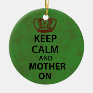 Keep Clam & Mother On Double-Sided Ceramic Round Christmas Ornament