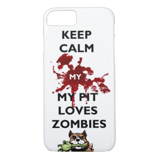 Keep Clam My Pitbull Loves Zombies IPhone Case