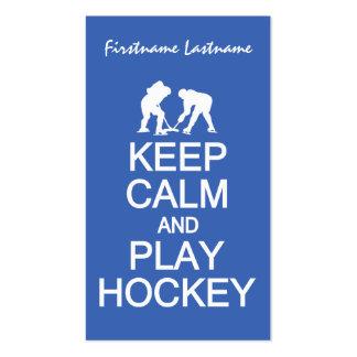 Keep Clam & Play Hockey custom business cards