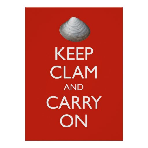 KEEP CLAM poster