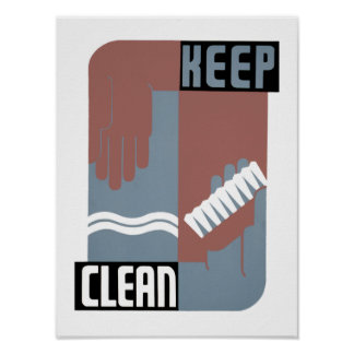 Keep Clean Posters