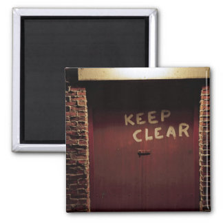 Keep Clear 2 Inch Square Magnet