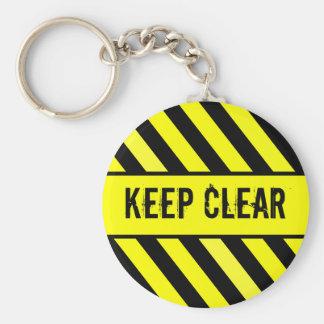 Keep Clear Basic Round Button Keychain