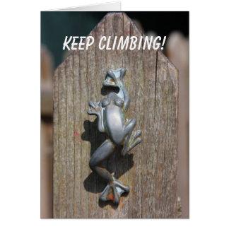 Keep Climbing! Card