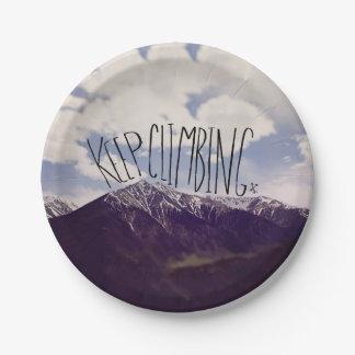Keep Climbing Paper Plate