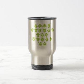 Keep Coding And Carry On (Bug Droid Font Shoutout) Travel Mug