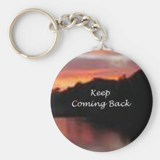 Keep Coming Back Basic Round Button Keychain